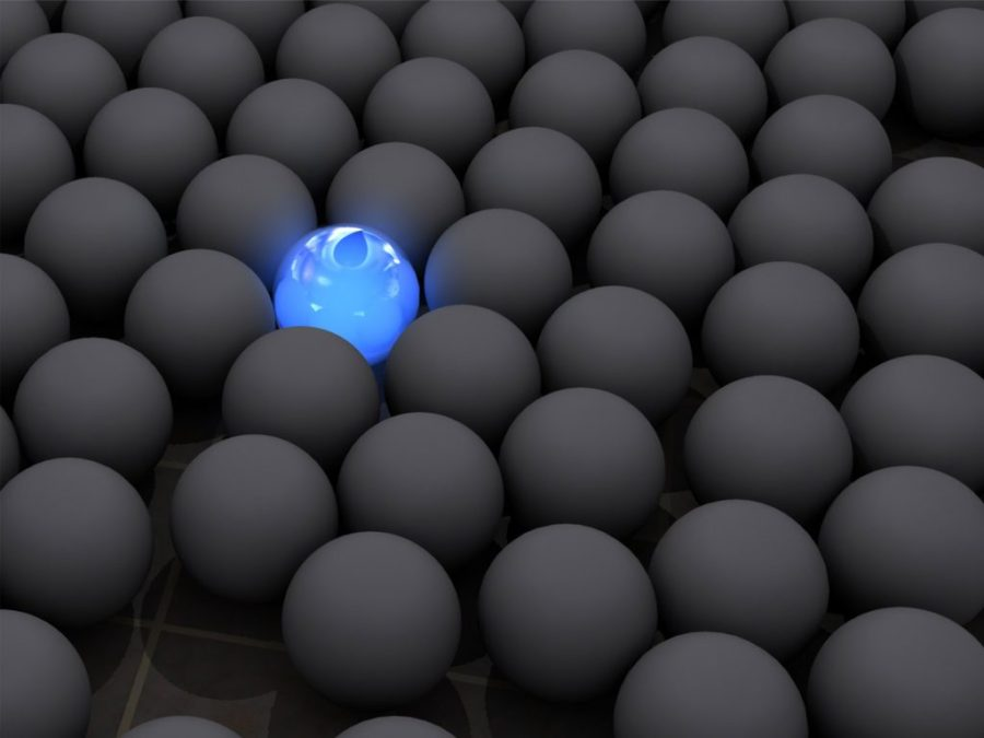 stand out client black blue sphere
